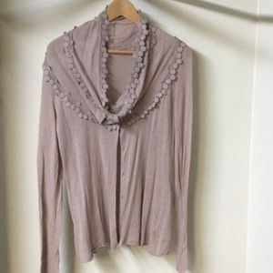 Anthropologie cowl neck sweater and t